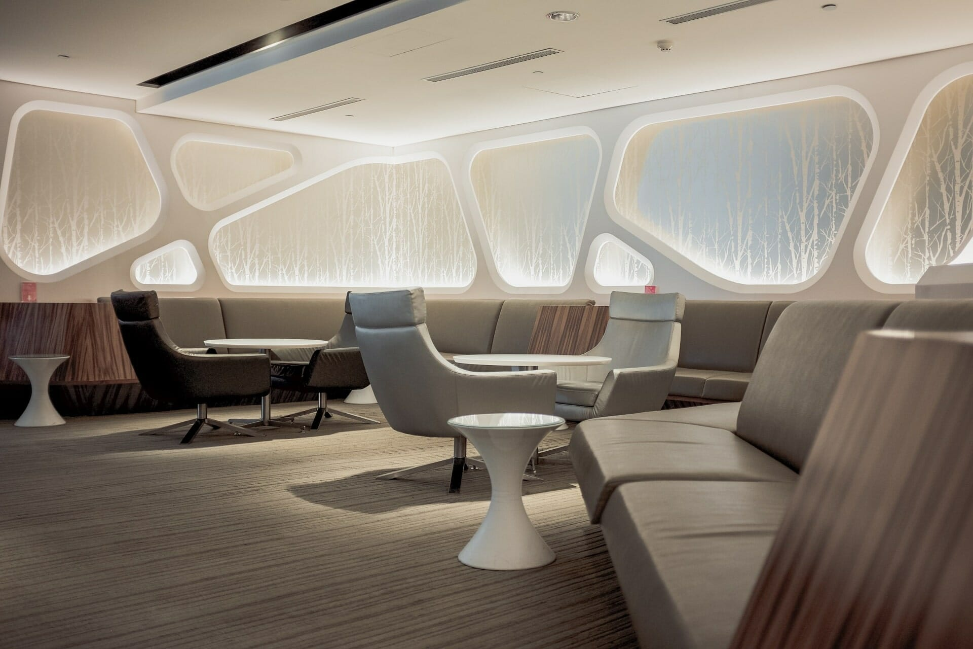 Overview of lounge amenities from popular us airline carriers