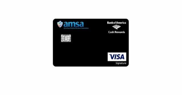 bank of america cash rewards card for amsa