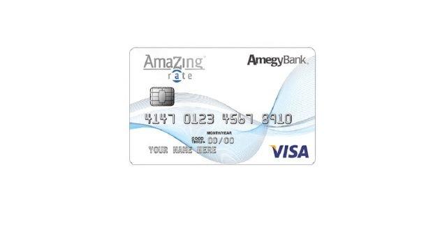 amegy bank amazing rate credit card