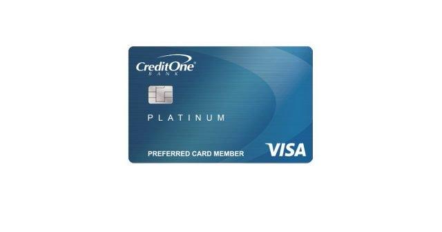 credit one platinum visa for rebuilding credit