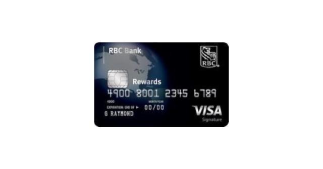 rbc rewards visa signature credit card