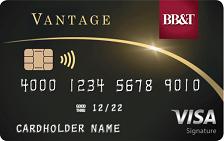 bb&t vantage visa signature credit cards