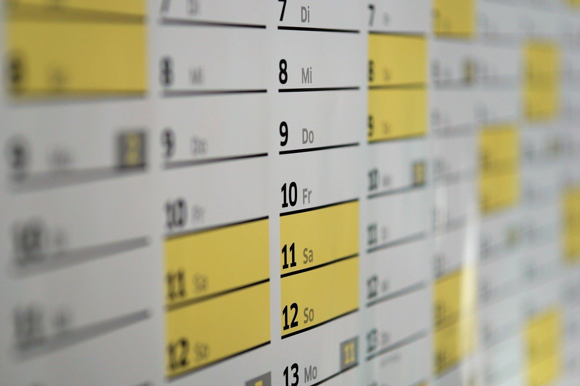 discover 2021 5% calendar