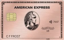 amex gold card rose gold