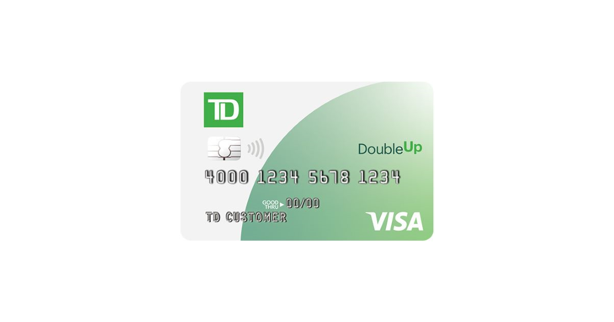 td bank double up visa card
