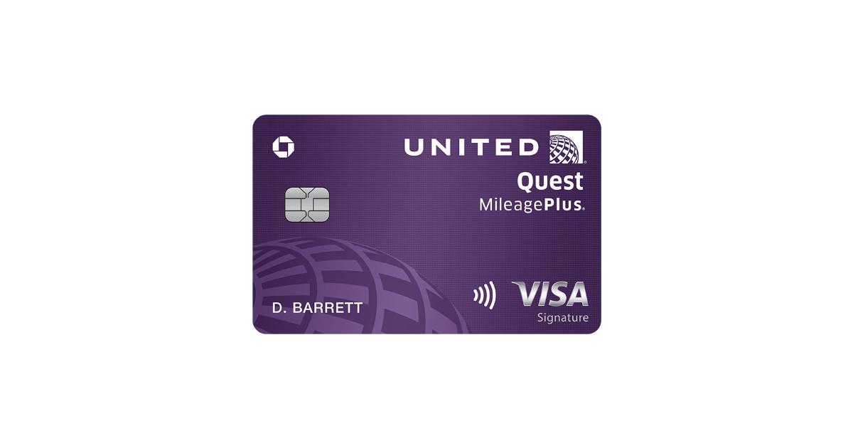 united quest visa signature card