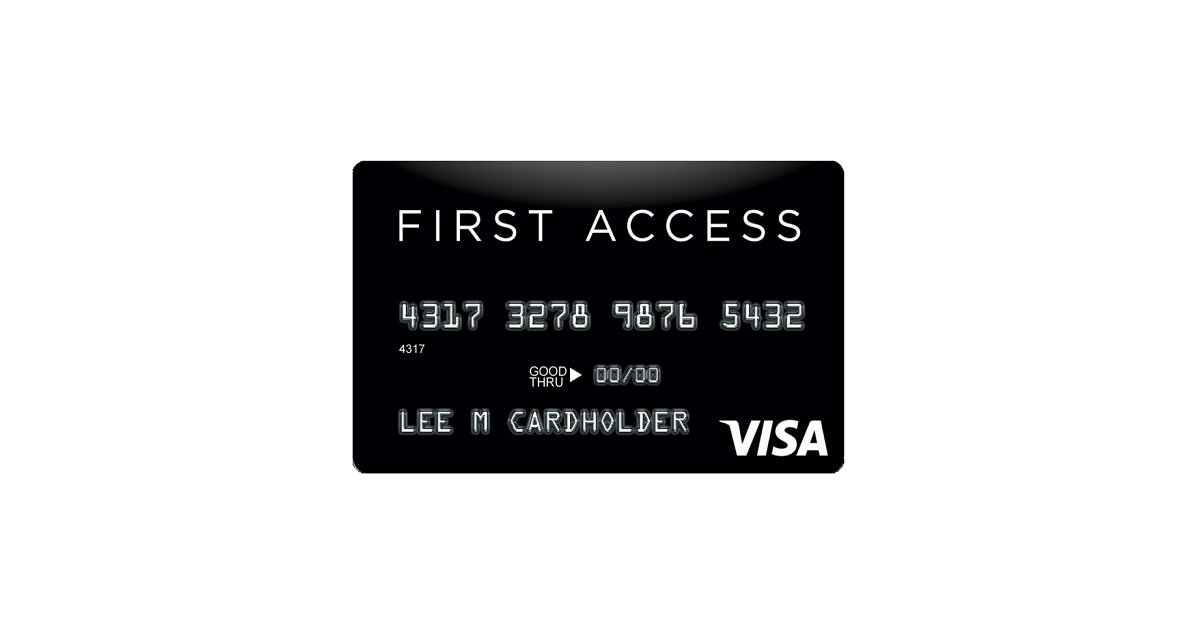 first access black visa credit card