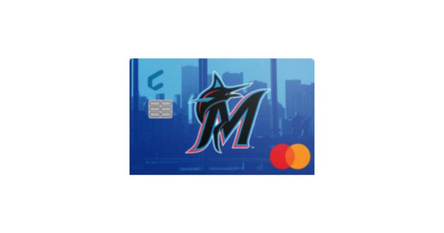 mlb miami amrlins baseball credit card mastercard