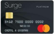 surge secured mastercard credit card