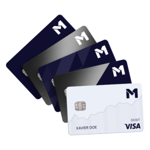 m1 spend visa debit metal card