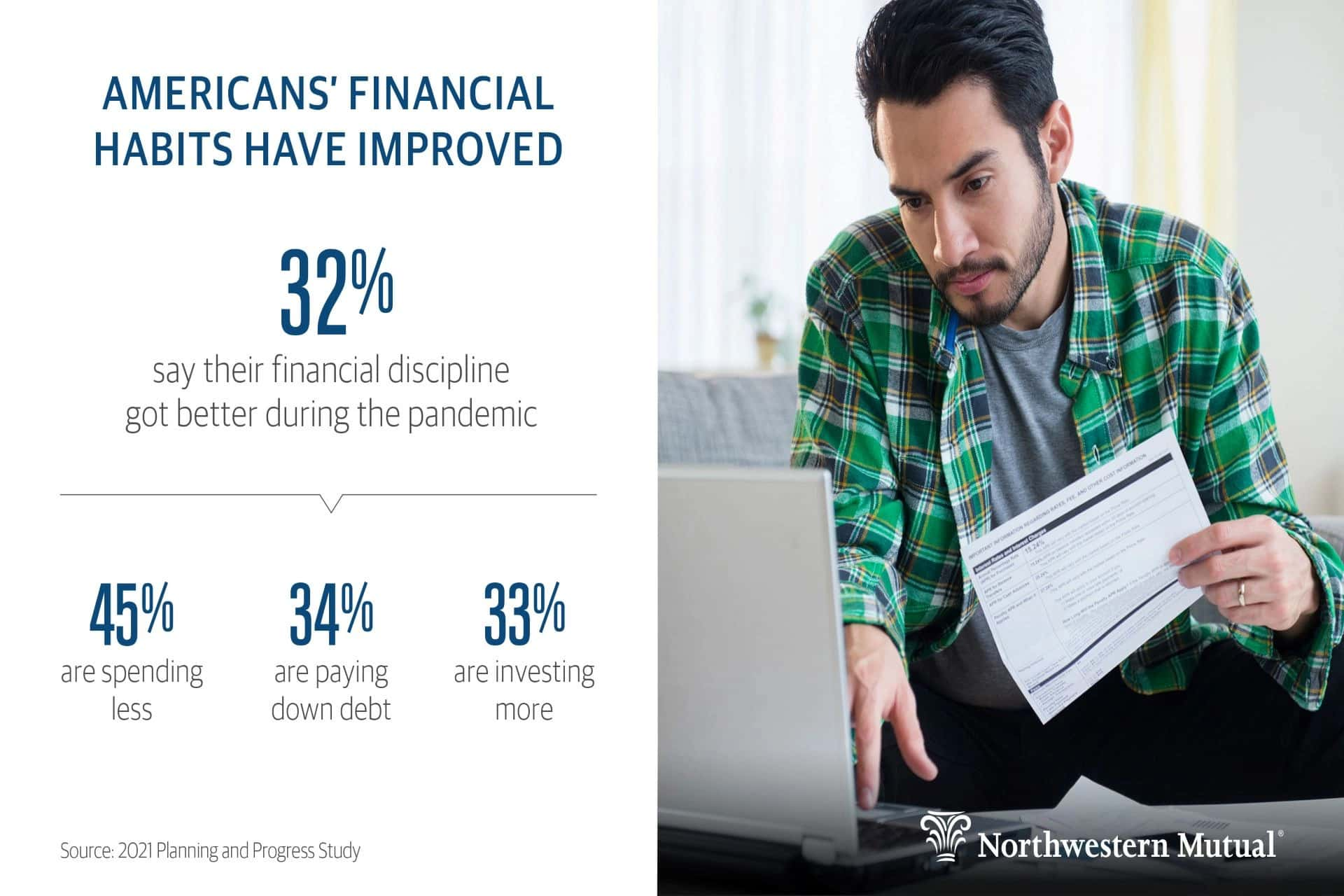 northwestern mutual shows declining debt