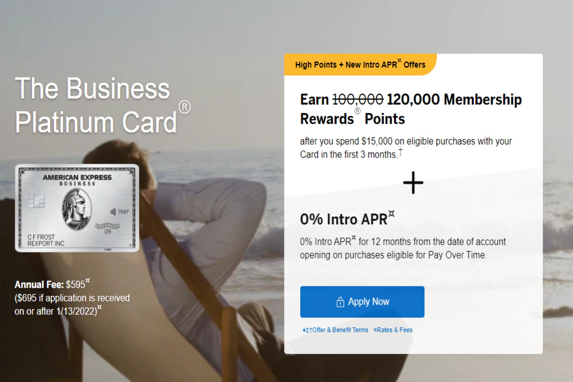 amex business platinum new annual fee