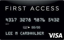 first access solid black new